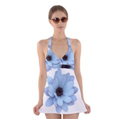 Daisy Flower Floral Plant Summer Halter Swimsuit Dress