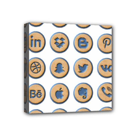 Social Media Icon Icons Social Mini Canvas 4  X 4  by Nexatart