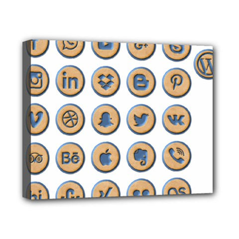 Social Media Icon Icons Social Canvas 10  X 8  by Nexatart
