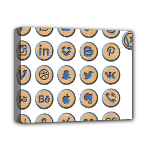 Social Media Icon Icons Social Deluxe Canvas 14  X 11  by Nexatart