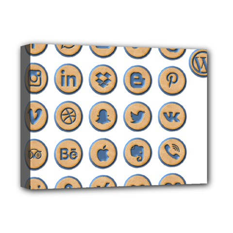 Social Media Icon Icons Social Deluxe Canvas 16  X 12   by Nexatart