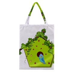 Bluebird Bird Birdhouse Avian Classic Tote Bag by Nexatart