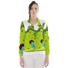 Bluebird Bird Birdhouse Avian Wind Breaker (women)