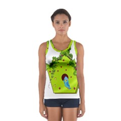 Bluebird Bird Birdhouse Avian Women s Sport Tank Top