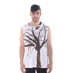 Tree Fantasy Magic Hearts Flowers Men s Basketball Tank Top