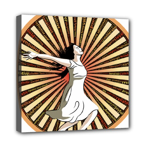 Woman Power Glory Affirmation Mini Canvas 8  X 8  by Nexatart