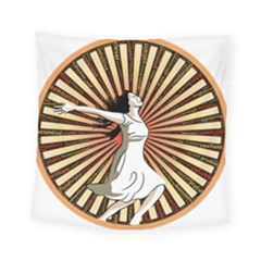 Woman Power Glory Affirmation Square Tapestry (small)