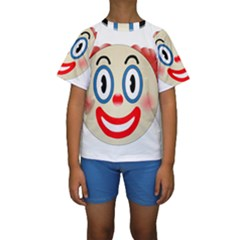 Clown Funny Make Up Whatsapp Kids  Short Sleeve Swimwear by Nexatart