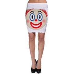 Clown Funny Make Up Whatsapp Bodycon Skirt