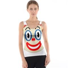 Clown Funny Make Up Whatsapp Tank Top