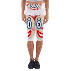 Clown Funny Make Up Whatsapp Capri Yoga Leggings