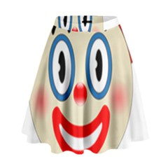 Clown Funny Make Up Whatsapp High Waist Skirt by Nexatart