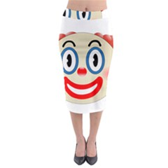 Clown Funny Make Up Whatsapp Midi Pencil Skirt by Nexatart
