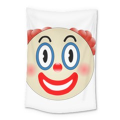 Clown Funny Make Up Whatsapp Small Tapestry by Nexatart