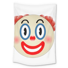 Clown Funny Make Up Whatsapp Large Tapestry by Nexatart