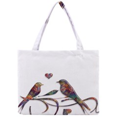 Birds Abstract Exotic Colorful Mini Tote Bag by Nexatart