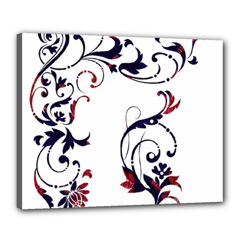 Scroll Border Swirls Abstract Canvas 20  X 16  by Nexatart