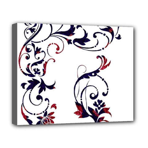 Scroll Border Swirls Abstract Deluxe Canvas 20  X 16   by Nexatart