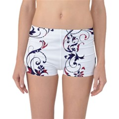 Scroll Border Swirls Abstract Reversible Bikini Bottoms