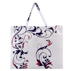 Scroll Border Swirls Abstract Zipper Large Tote Bag by Nexatart
