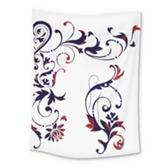 Scroll Border Swirls Abstract Medium Tapestry by Nexatart