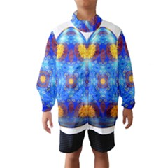 Easter Eggs Egg Blue Yellow Wind Breaker (kids)