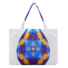 Easter Eggs Egg Blue Yellow Medium Tote Bag