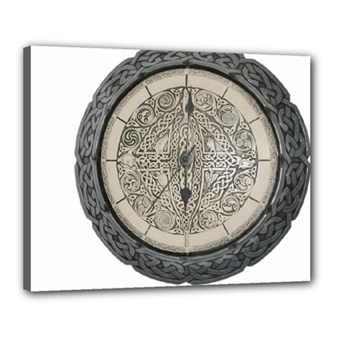 Clock Celtic Knot Time Celtic Knot Canvas 20  X 16  by Nexatart