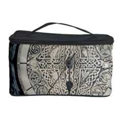 Clock Celtic Knot Time Celtic Knot Cosmetic Storage Case by Nexatart