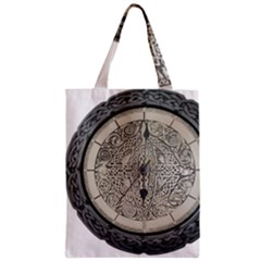 Clock Celtic Knot Time Celtic Knot Zipper Classic Tote Bag