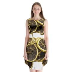 Lemon Dried Fruit Orange Isolated Sleeveless Chiffon Dress   by Nexatart