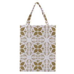 Pattern Gold Floral Texture Design Classic Tote Bag