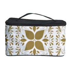 Pattern Gold Floral Texture Design Cosmetic Storage Case