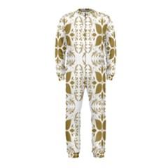 Pattern Gold Floral Texture Design Onepiece Jumpsuit (kids)