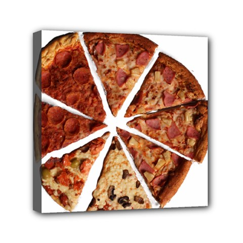 Food Fast Pizza Fast Food Mini Canvas 6  X 6  by Nexatart