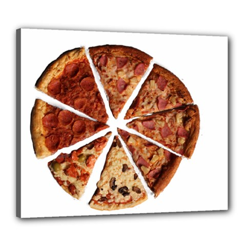 Food Fast Pizza Fast Food Canvas 24  X 20  by Nexatart