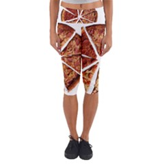 Food Fast Pizza Fast Food Capri Yoga Leggings