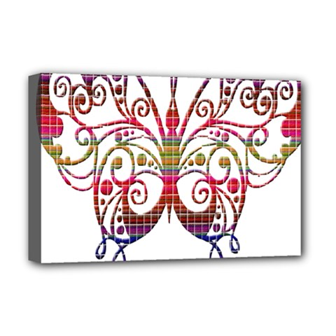 Butterfly Nature Abstract Beautiful Deluxe Canvas 18  X 12