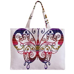 Butterfly Nature Abstract Beautiful Zipper Mini Tote Bag by Nexatart