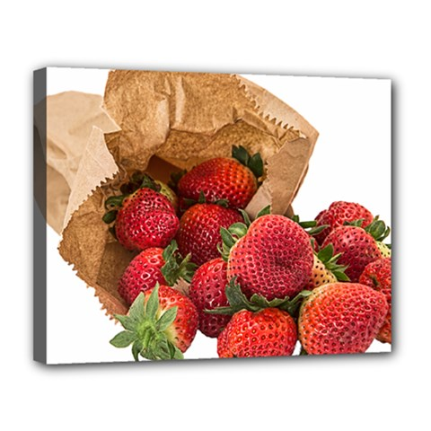Strawberries Fruit Food Delicious Canvas 14  X 11  by Nexatart
