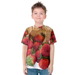 Strawberries Fruit Food Delicious Kids  Cotton Tee
