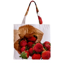 Strawberries Fruit Food Delicious Grocery Tote Bag by Nexatart