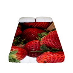 Strawberries Fruit Food Delicious Fitted Sheet (full/ Double Size)