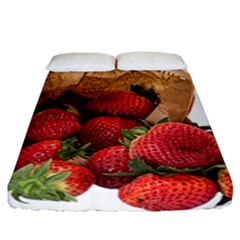 Strawberries Fruit Food Delicious Fitted Sheet (california King Size)
