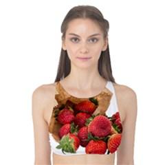 Strawberries Fruit Food Delicious Tank Bikini Top