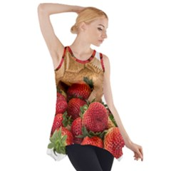Strawberries Fruit Food Delicious Side Drop Tank Tunic
