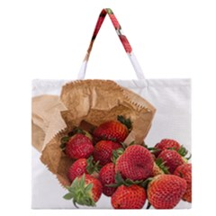 Strawberries Fruit Food Delicious Zipper Large Tote Bag