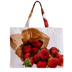 Strawberries Fruit Food Delicious Medium Zipper Tote Bag by Nexatart