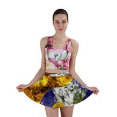 Design Yin Yang Balance Sun Earth Mini Skirt