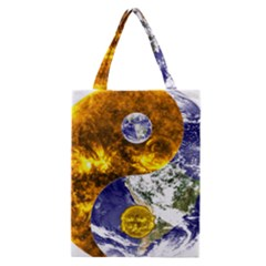 Design Yin Yang Balance Sun Earth Classic Tote Bag by Nexatart